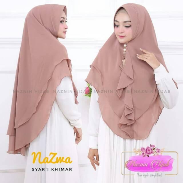 Jilbab Khimar Terbaru Hijab Khimar Nazma Termurah Shopee Indonesia