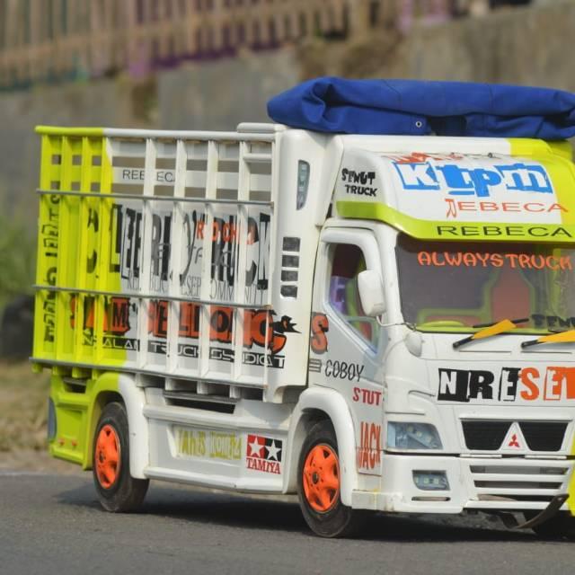 Gambar Modifikasi Truk Oleng Miniatur Truk Full Fariasi Bisa Oleng Truck Siap Kontes Shopee