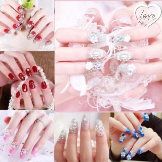 [COD] 24pcs Kuku Palsu 3D Nikah Wedding False Fake Nail Nails Nailart Pengantin Tangan kuku thumbnail