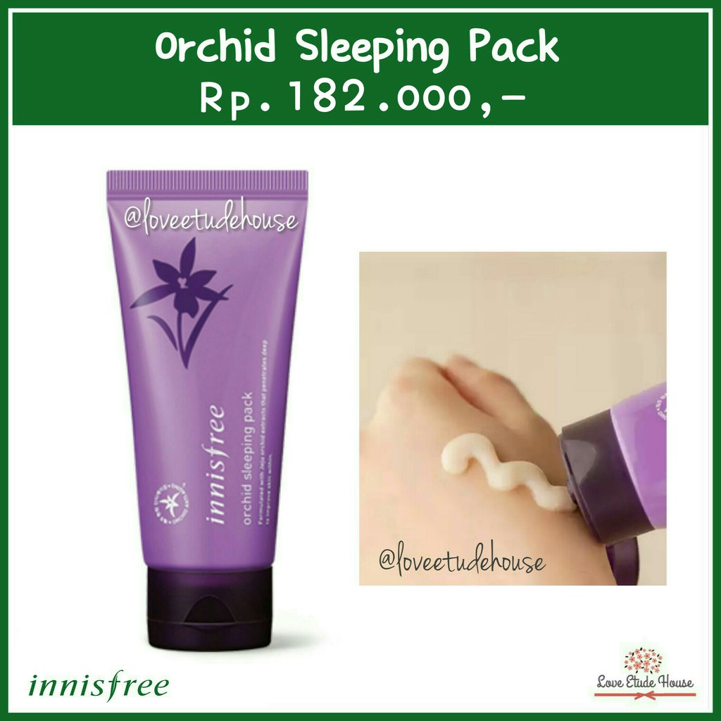 Innisfree Jeju Orchid Sleeping Pack Shopee Indonesia 80ml