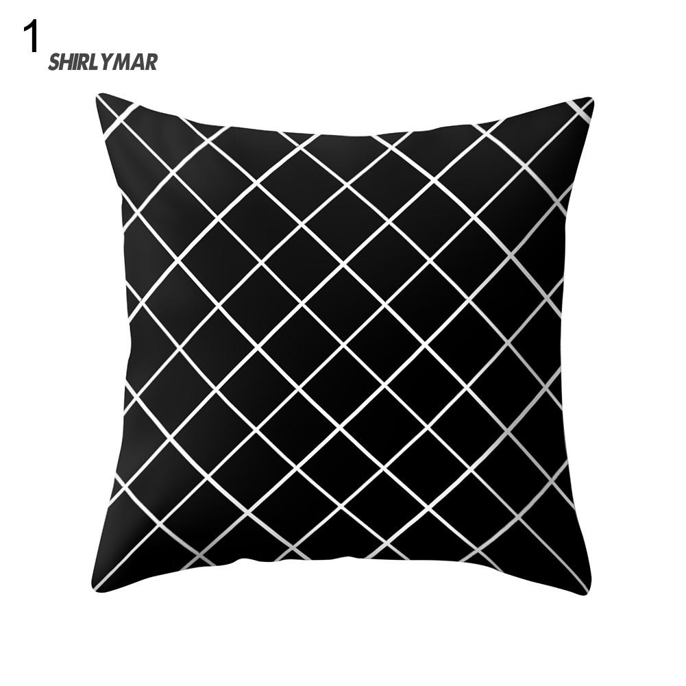 Reversible Modern Satin Sequin Waist Cushion Bolster Cover Pillowcase Slip Decor