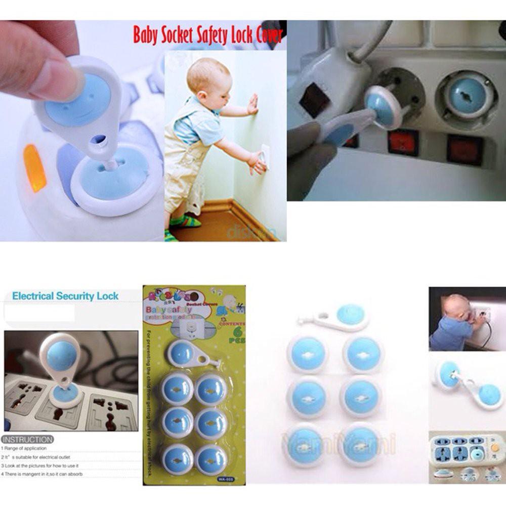 Pengaman Stop Kontak/ Penutup Colokan Listrik Socket Cover Baby Safety (MODEL 2 PIN) | Shopee Indonesia