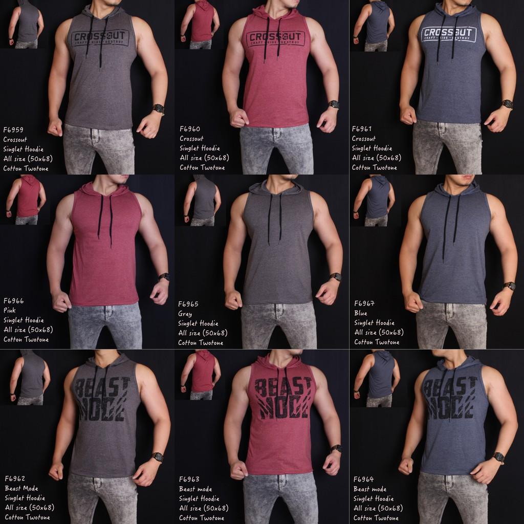Singlet Gym Olahraga Shopee Indonesia Lekbong Kaos Baju Fitness Fitnes Underarmour Under Armour