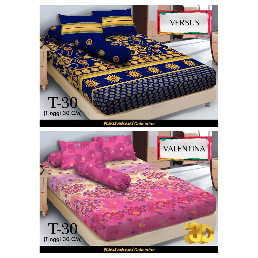 Kintakun Sprei 2 In 1 Linen 120 X 200 Singel Shopee Indonesia Dluxe 120x200 Single Azaki