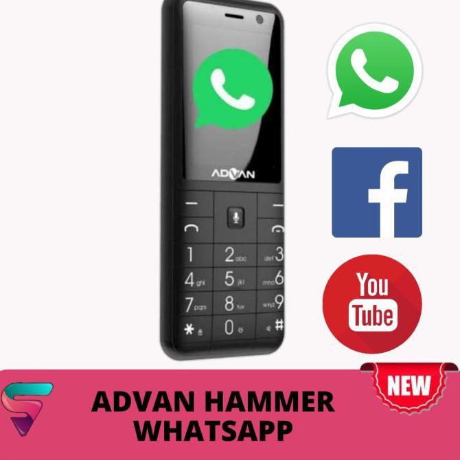 Advan hammer 2406 Hp Jadul 4G hp bisa whatsapp Original