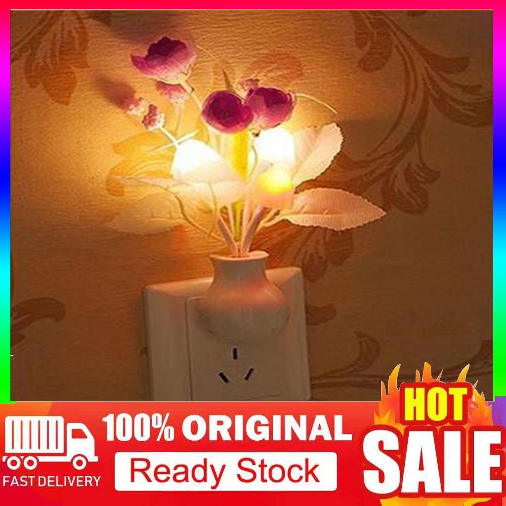 Lampu Lampu Led Bentuk Bunga Tulip Cahaya Lembut Dilengkapi Sensor Untuk Tempat Tidur Bayi Shopee Indonesia