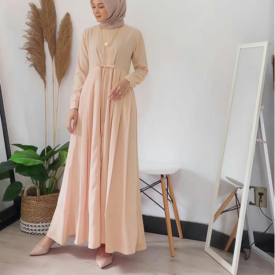 NEW ח  PROMO FLASH SALE  GBB_ Aluna Dress Size S M L XL  Gamis Muslim  Terlaris  Terbaru  Terpop