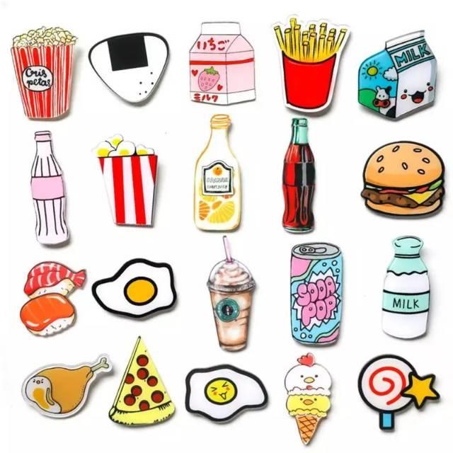 Magnet Kulkas Kartun Makanan Lucu Shopee Indonesia