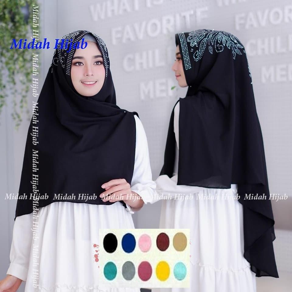 Termurah Khimar Belah Payet Hijab Instan Syar I Jilbab Kerudung Murah
