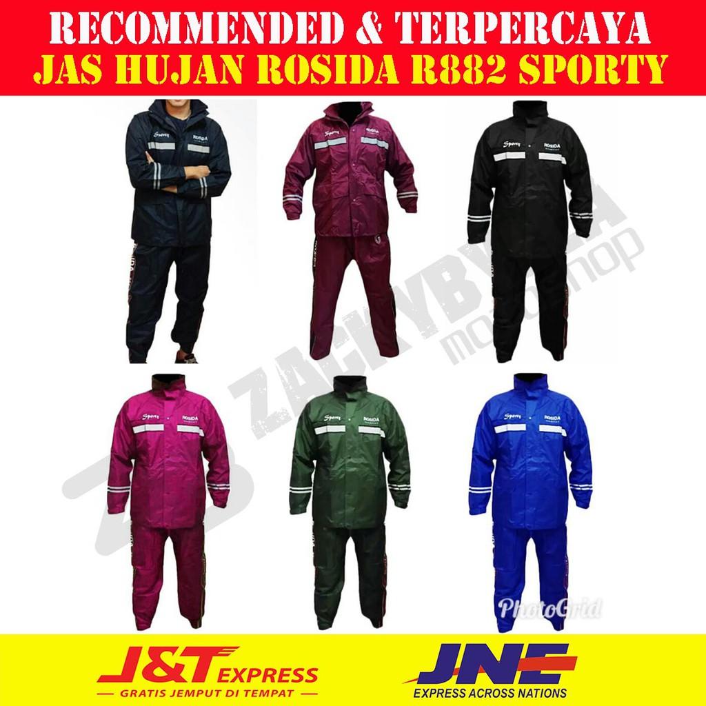 Jas Hujan Rosida R882 Sporty Edition Lebih Bagus Dan Tebal Dari Mds 4 Axio Shopee Indonesia