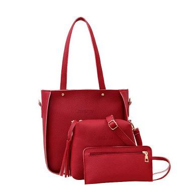 Litchi pola empat set sabuk pribadi tas bahu diagonal perempuan | Shopee Indonesia