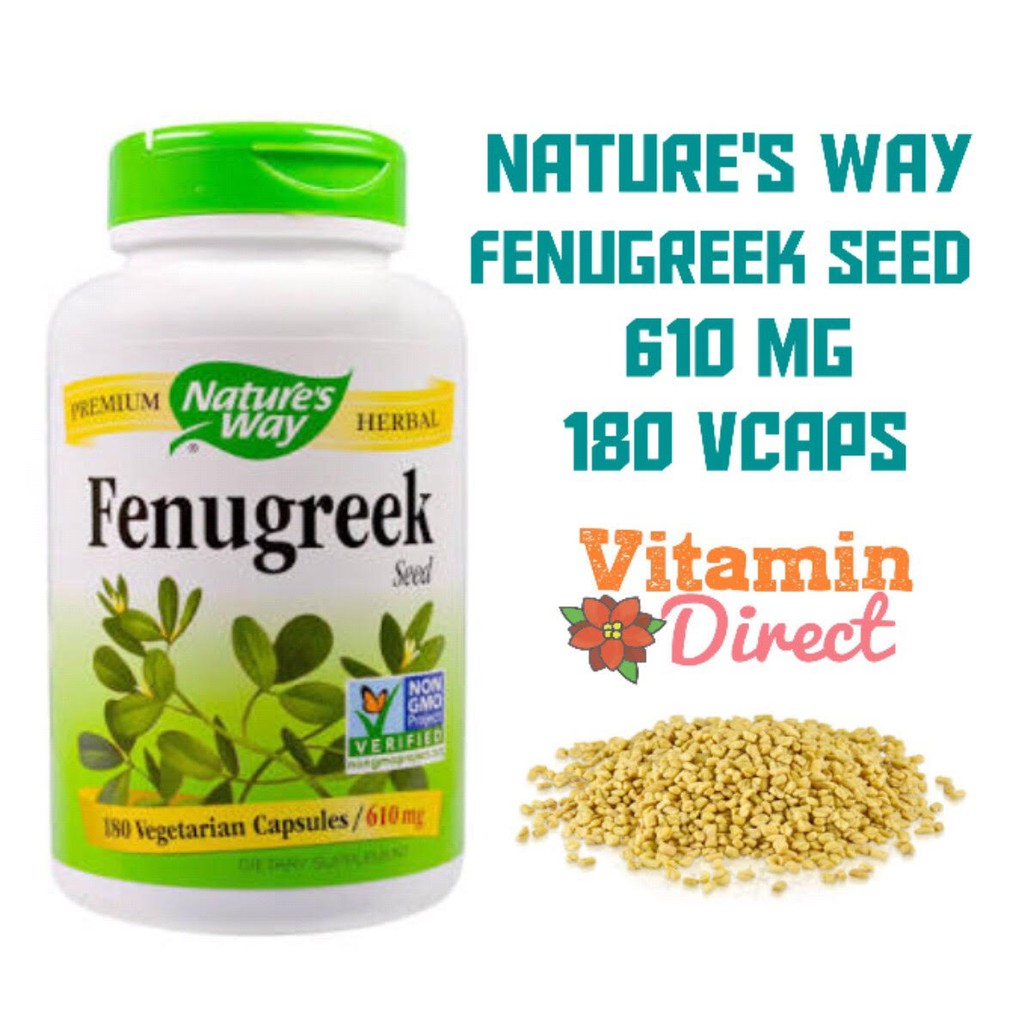 Nature's Way Fenugreek Seed 610 mg 180 VCaps - Booster ASI | Shopee Indonesia