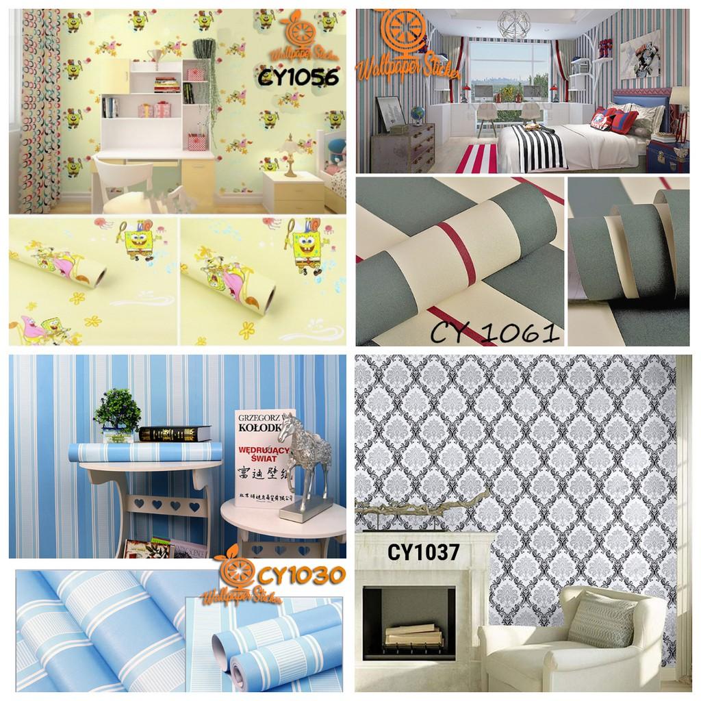 TERMURAH Wallpaper Stiker Dinding Motif Dan Karakter Premium Quality 45cm X 10m TERLARIS DI SURABAYA