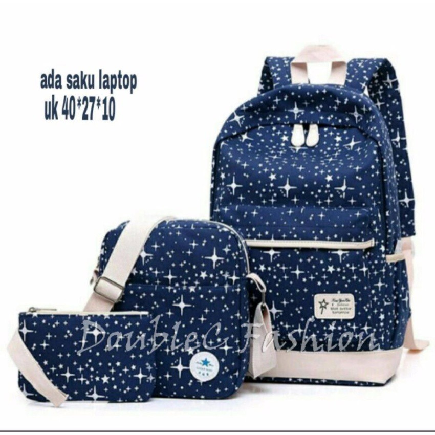 Fashion Backpack 3in1 Star .