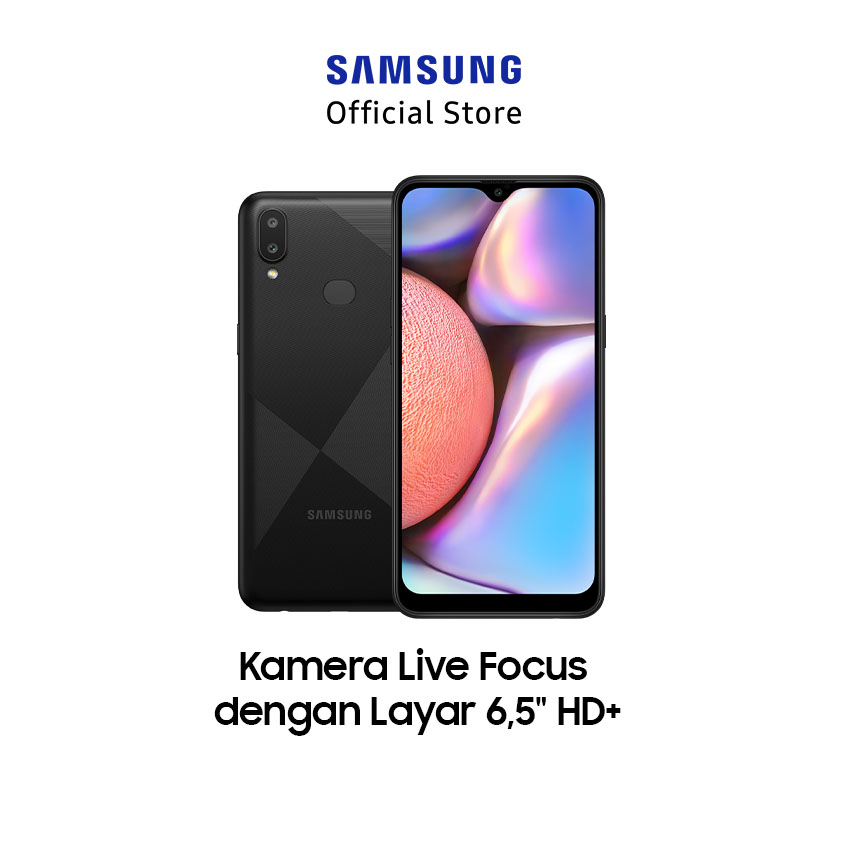 Samsung Galaxy A10s 2GB / 32GB - Tactile Black (SM-A107FAKDXID)