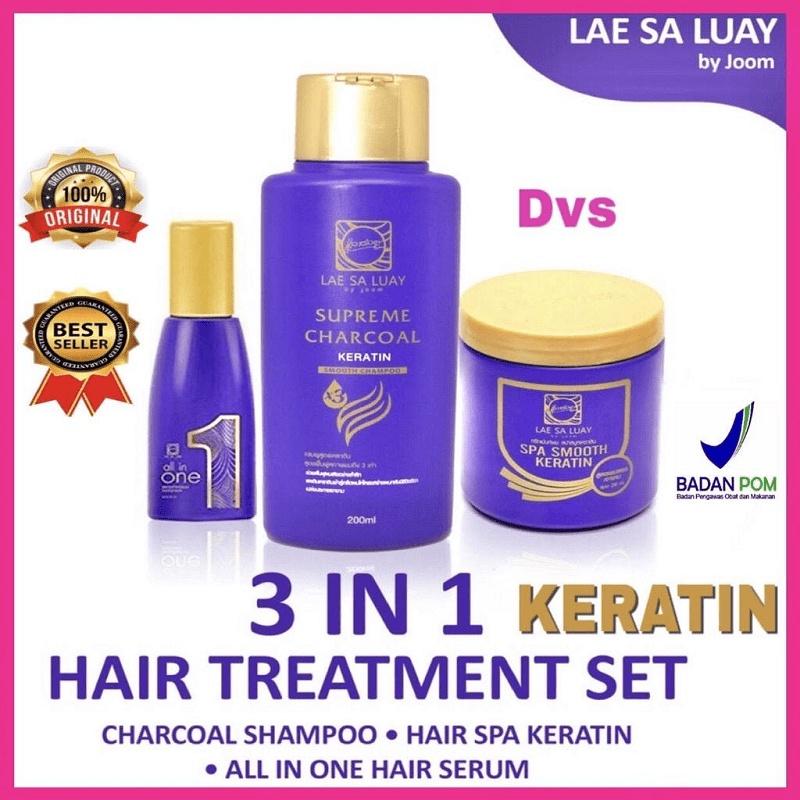 Lae Sa Luay Hair Spa Smooth Keratin Masker Rambut 100% Original / Hairmask / Shampo / Serum