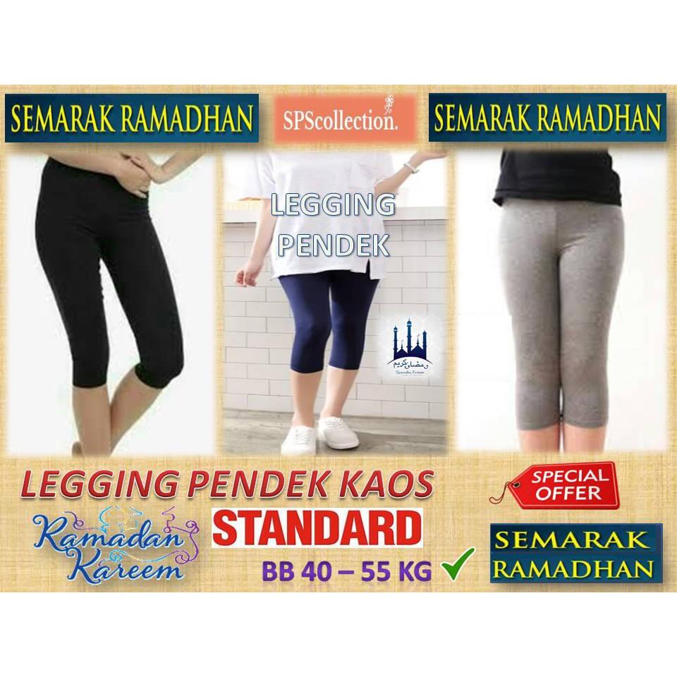 Celana Legging Kaos Pendek Legging Tanggung 40 50 Kg Shopee Indonesia