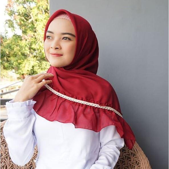 Square Rempel Renda Hijab Segi Empat Rempel Renda Segiempat Rempel Renda Shopee Indonesia