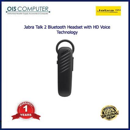 Jabra Talk 2 Bluetooth Headset with HD Voice Technology