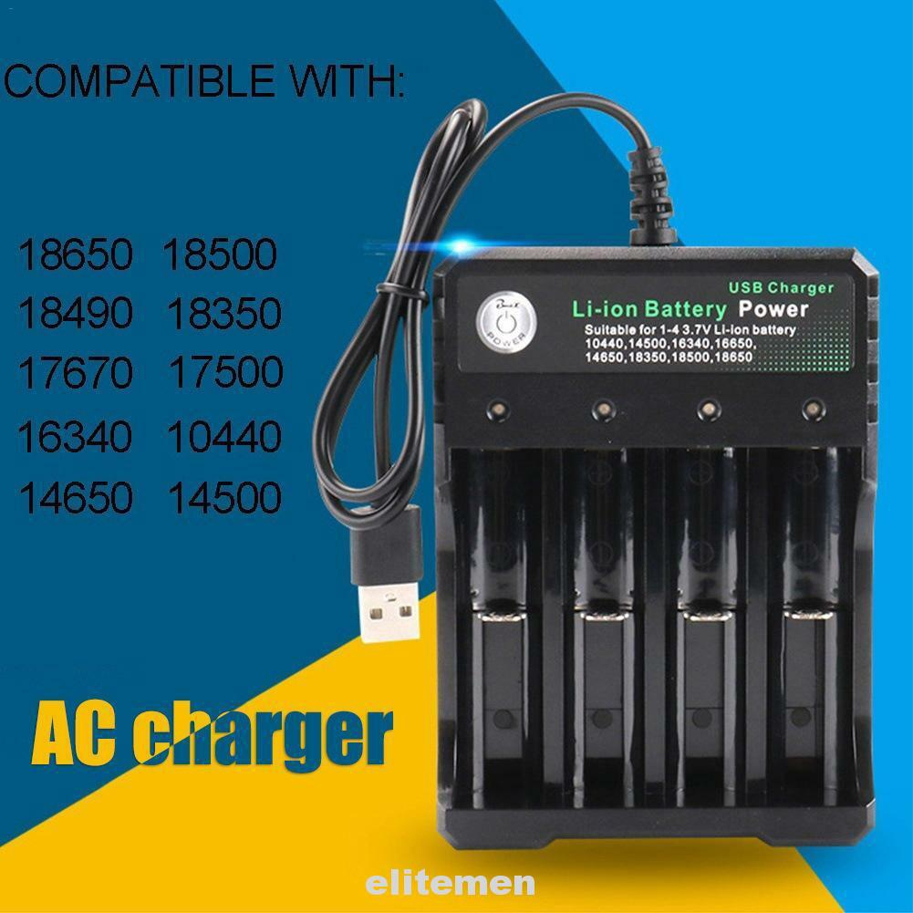 EBL 2 Slots Battery Charger For 18650 14500 16340 10440 18500 Li-ion Battery USA