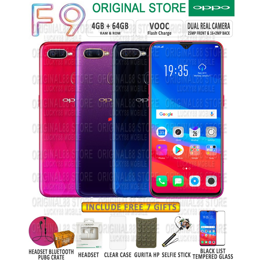 Oppo F7 4 64gb Resmi Shopee Indonesia Pro Plus Bonus 6gb 128gb