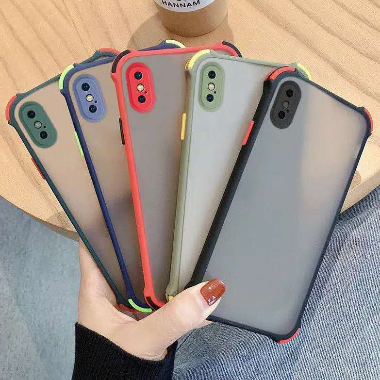 AHF | Casing HP Samsung Galaxy A02 Note 8 9 10 + Lite 2020 M21 M30S M31S A21 A01 M01 Core Clear Matte TPU Bumper Lens Protection Shockproof Candy Color Phone Case