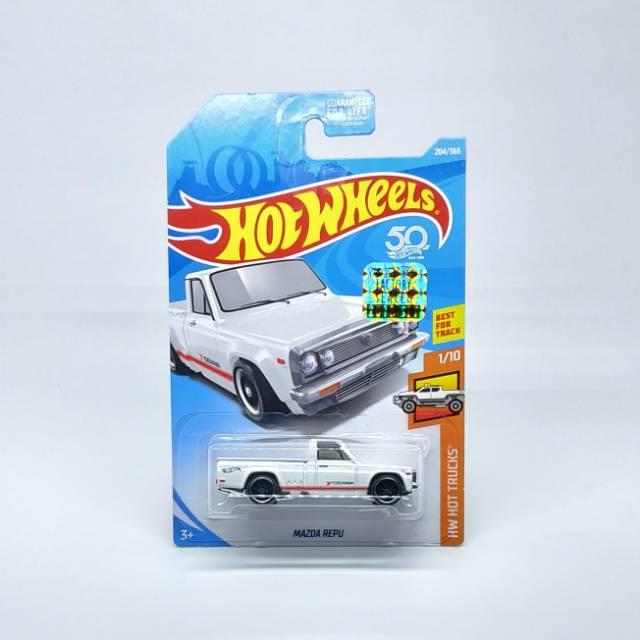 Hot Wheels Mazda Repu Truck HW Hot Trucks #1//10 White 50 Years Best For Track