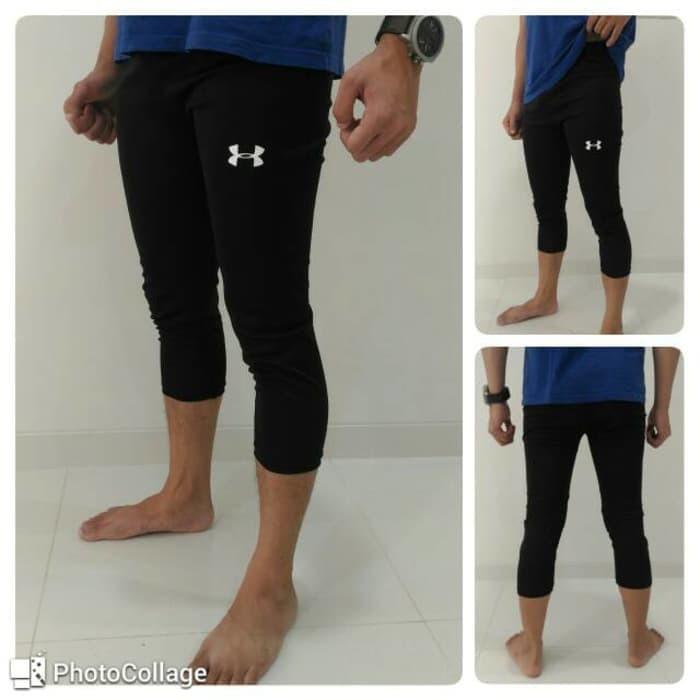 Celana Baselayer Legging Pendek Underarmor 3 4 Legging Leging Wanita Pria Futsal Olahraga Shopee Indonesia