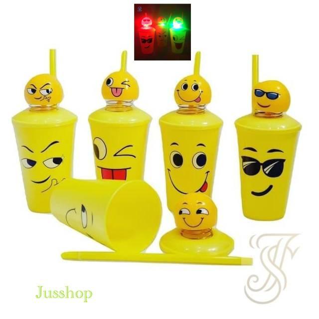 Gelas Tempat Minum Boneka Emoji Per Led Emoticon Mug Spring Doll