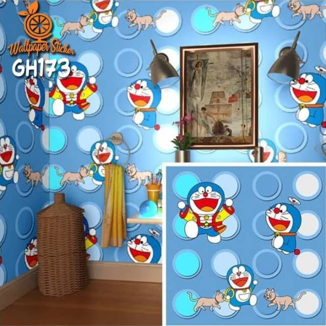 Wallpaper 45cmx10m Doraemon Kolian 32rb Shopee Indonesia