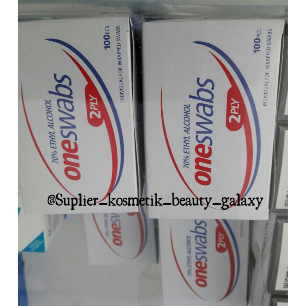 Tissue Alkohol Alcohol Swabs Box Isi 100 Lembar Kapas One Swab Shopee Indonesia