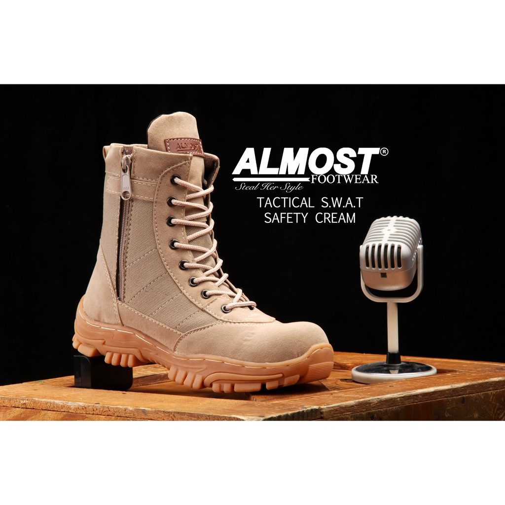 Promo Sepatu Almost Original Tactical Swat Safety Shopee Indonesia