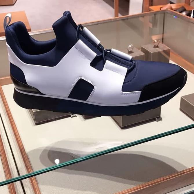 Jual Sepatu Sbeakers Pria Hermes H Size 42 Fit 43 Original