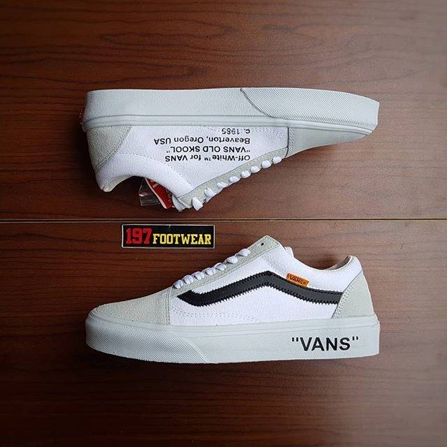 buy online bc41f f9eed VANS OLDSKOOL OG x OFF WHITE AIR JORDAN 2 GREY WHITE.