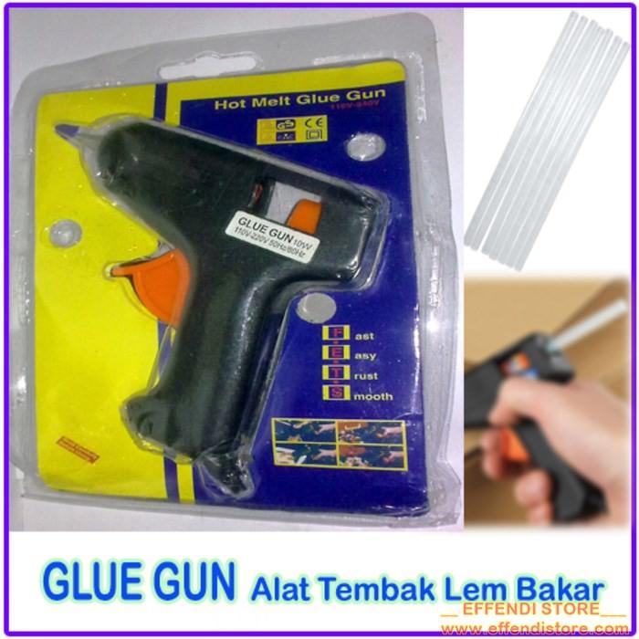 Tembakan Lem Stick Glue Gun v-tec Hitam Tembak Lem Panas Grosir Murah | Shopee Indonesia