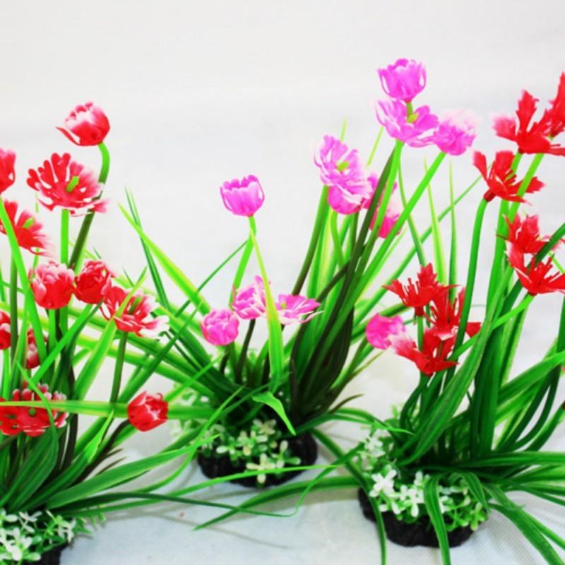 Bunga Rambat Dua Warna Kualitas Bagus / Bunga artificial / Tanaman Artificial / tanaman rambat |