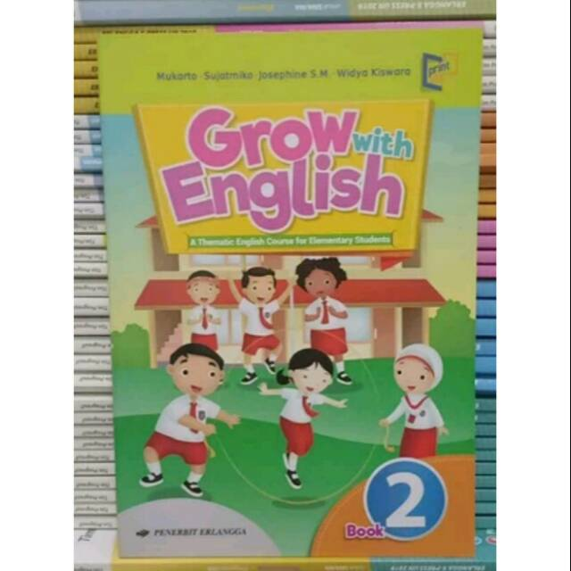 Buku Bahasa Inggris K13 Grow With English Kelas 2 Sd Mi Penerbit Erlangga Shopee Indonesia