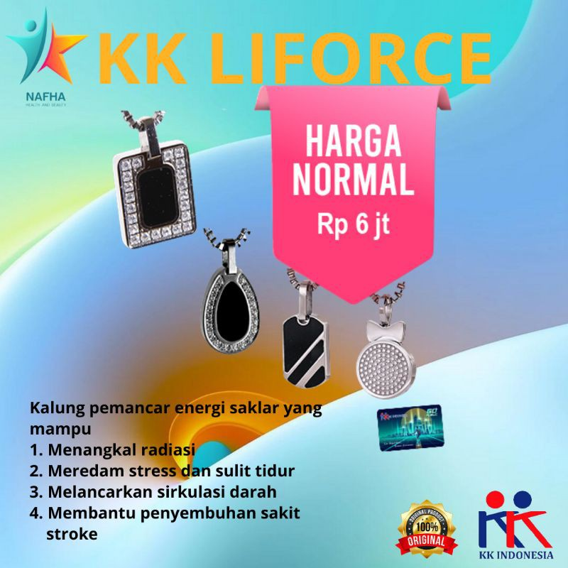 Paket Keluarga Kalung Anti Radiasi KK Liforce 4 Model