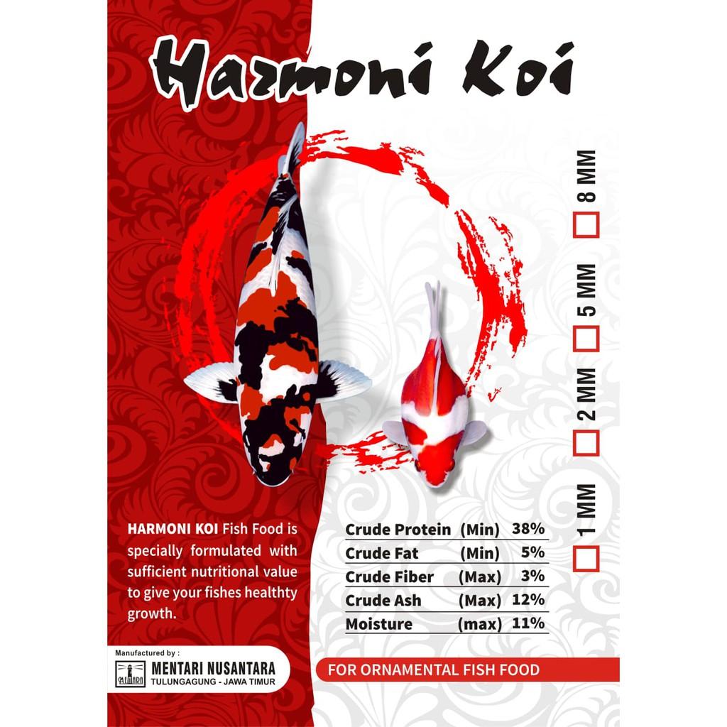 Pakan Koi Harmoni 1 Mm 10 Kg Pakan Koi Terbaik Untuk Ikan Kecil Shopee Indonesia