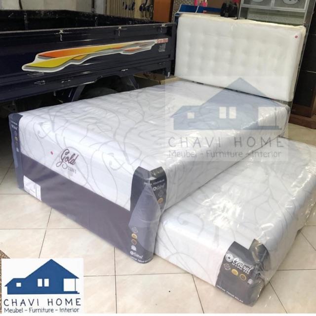 Set kasur springbed sorong 2in1 central gold spring bed ukuran 120 bergaransi kualitas terbaik