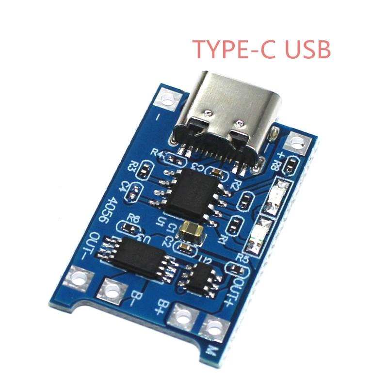 Tp4056 Papan Modul Charger Baterai Lithium 1a Tipe C Usb Interface 2 In 1