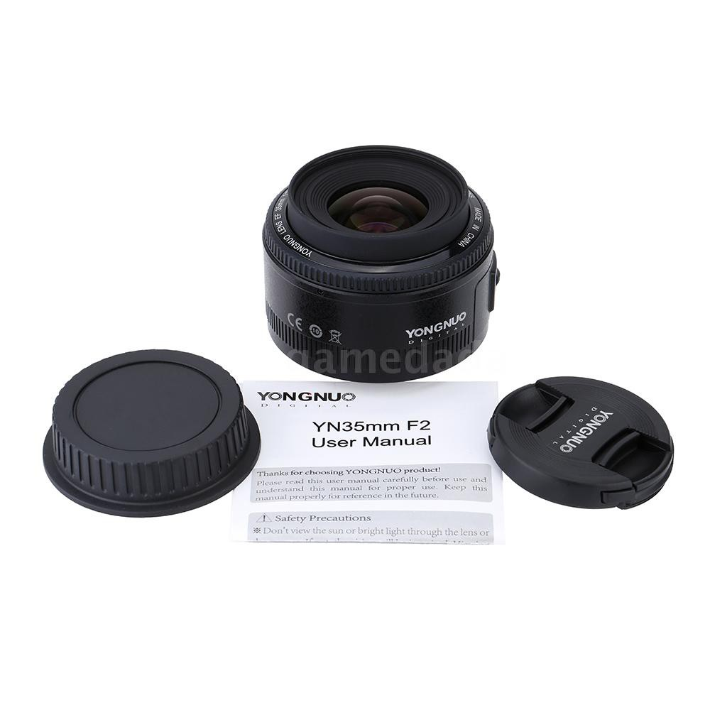 G&M Yongnuo YN35mm F2 Lens 1:2 AF / MF Wide-Angle Fixed/Prime Auto Focus Lens for Canon EF Mount EOS