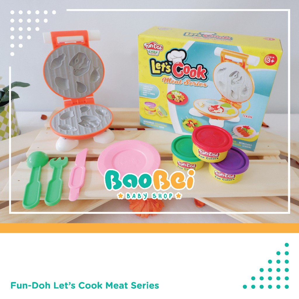 Fun Doh Animal Series Fundoh Mainan Lilin Cetakan Binatang Play Grill Set Edukasi Anak Playdoh Shopee Indonesia