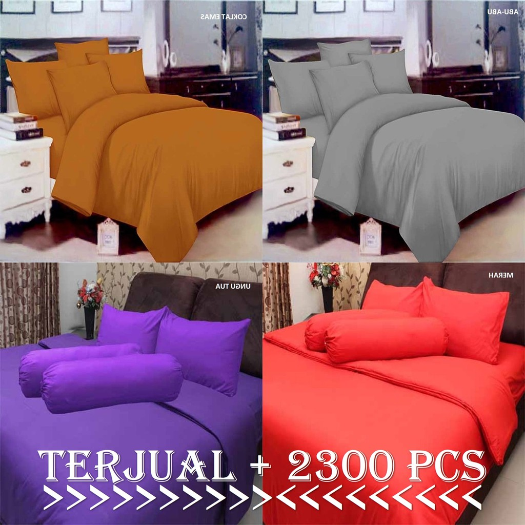 Bed Cover Bedcover Polos Tanpa Sprei Set Katun Microtex Asli Chelsea Rosewell 180x200cm Uk Single Shopee Indonesia