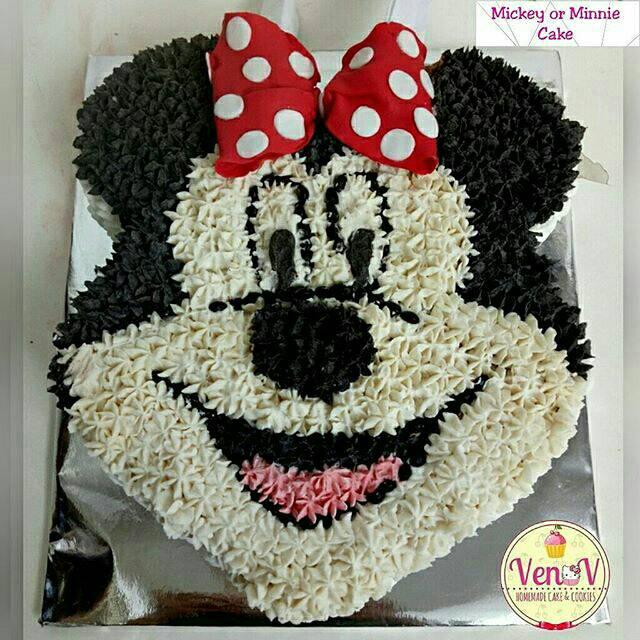 Kue Ultah Ulang Tahun Karakter Kartun Lucu Anak Mickey Minnie Mouse Cake Tart Malang