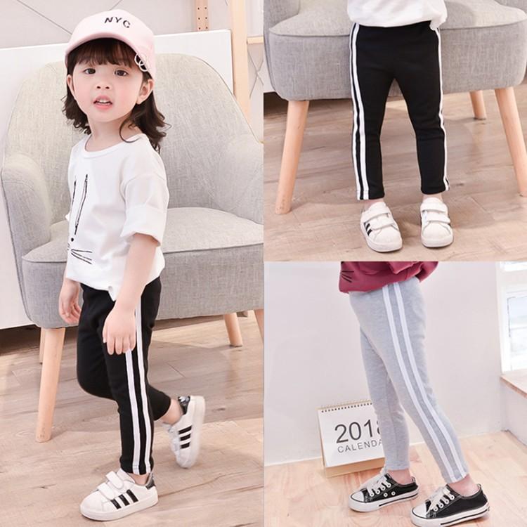 Celana Anak Perempuan Pakaian Anak Perempuan Legging Putih Cewek Celana Kasual Vertikal Shopee Indonesia