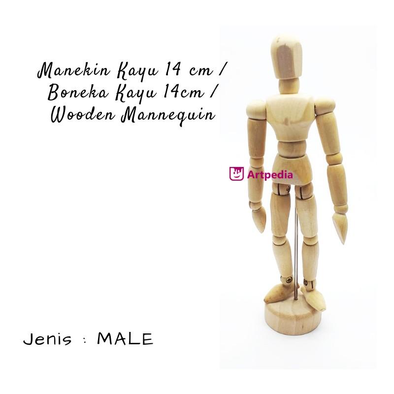 Manekin Kayu 14cm   Boneka Kayu 14cm   Wooden Mannequin   Manikin 14cm  9047b7b85c