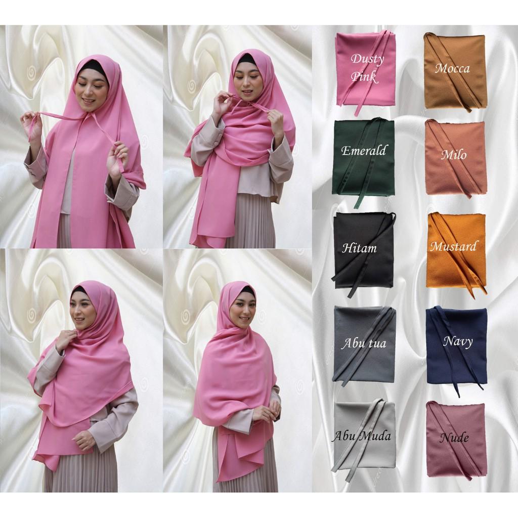 Jilbab Pashmina Tali Diamond Italiano Kerudung Pashmina Hijab Tali Pashmina Sabyan Shopee Indonesia