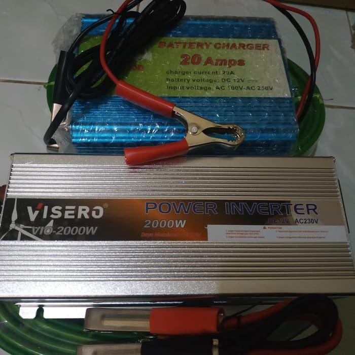 Baterai Charger Power Inverter 2000 Watt Plus Battery Charger 20a Ampere 1 Paket Kamera Shopee Indonesia