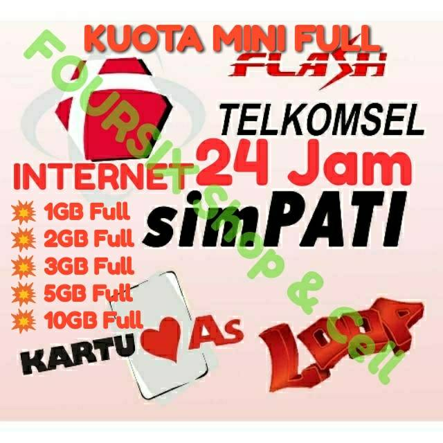 Paket Murah TELKOMSEL FLASH Simpati AS Loop Kuota Data Mini 1GB 2GB 3GB 5GB 10GB 2G 3G 4G 25GB 15GB